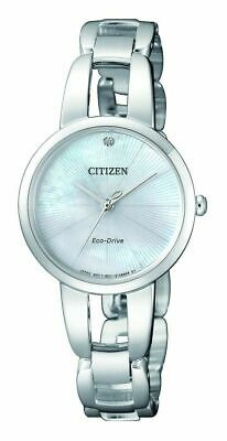 "Citizen Eco-Drive Women's ""L Collection"" White Dial Two Tone Watch - EM0424-53A"