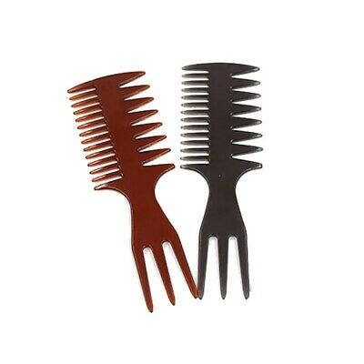 VAIN - Hairdressing Wide Teeth Fork Comb Hair Straightening Styling Transparent