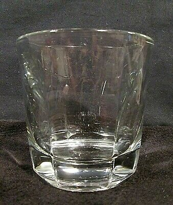 Sure Guard Oxford Anchor Hocking Old Fashioned Drinking Glass Scalloped Rosette