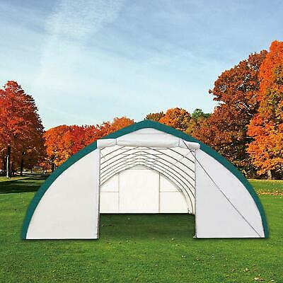 New 20X30X12 Canvas Fabric Storage Building Shelter Shop Metal Frame w/ warranty