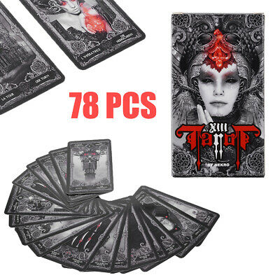 78pcs Set Dark Tarot Cards Deck Divination Personal Board Game in English Card
