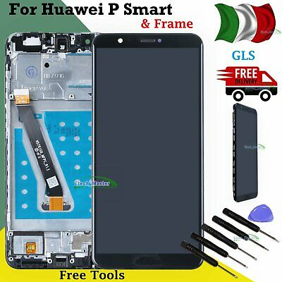 Lcd  Per Huawei P Smart Fig-Lx1 Lx2 Lx3 La1 2018 Display Touch Screen Nero Frame