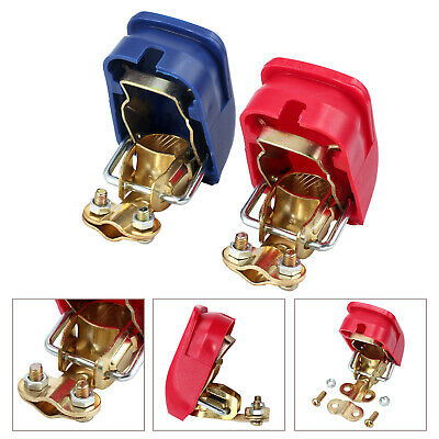 Pair 12V Quick Release Battery Terminals Clamps for Car Motorhome Caravan P6F9