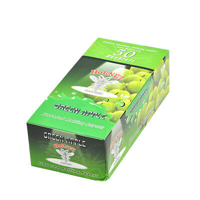 HORNET 1 1/4 GREEN APPLE Fruit Flavored Cigarette Rolling Paper (50 Packs)