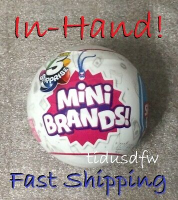 NEW ZURU 5 Surprise Mini Brands Sealed Capsule Ball - IN HAND!  Fast Shipping.