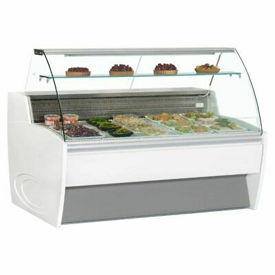 Commercial Serve Over Chiller Fridge Glass Display Frilixa Magimix 30C