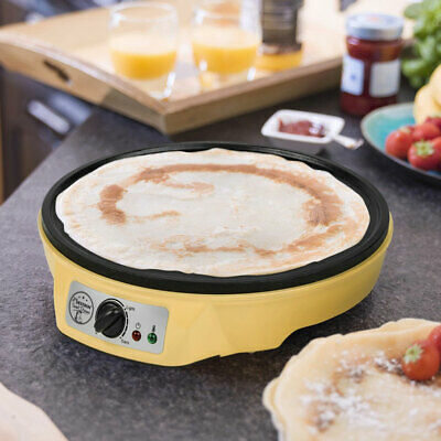 Crepes Maker Pfanne 1000W Anti-Haft Crêperie Thermostat einstellbar Platte 30 cm