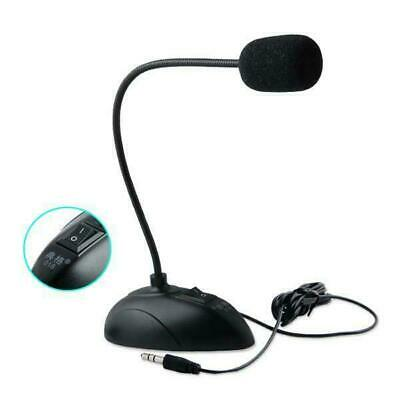 Flexible Stand Mini 3.5Mm Desktop Microphone Mic For Laptop Pc Notebook Computer