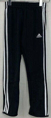 Adidas Kids Boys Girls Track Pants Black Climalite Athleisure Zip Cuff Size 7