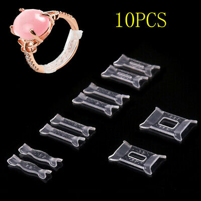 10pcs Invisible Multi Size Ring Guard Adjuster Snuggies Sizer Fitter Resizer UK