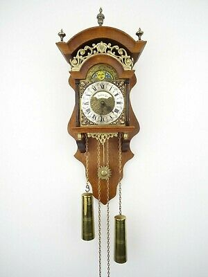 Dutch Sallander Vintage Wall Clock Moonphase 8 day (Warmink Wuba Friesian era)