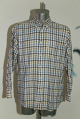 Pretty White Shirt Checkered Façonnable Size 40 16R like New
