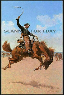 Frederic Remington painting art print picture Cowboy Rodeo horse western photo R