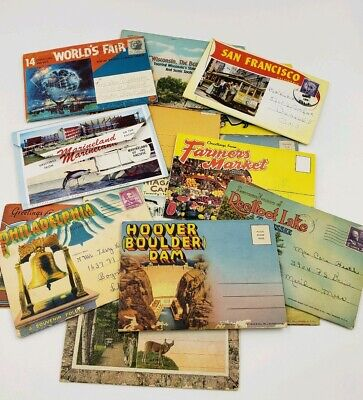 Souvenir Booklet Los Angeles Worlds Fair Texas Marineland Hoover Dam Niagara