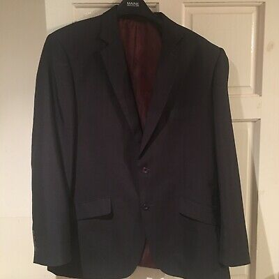 Men's Marc Darcy quality Blazer Suit Jaket 46R Black
