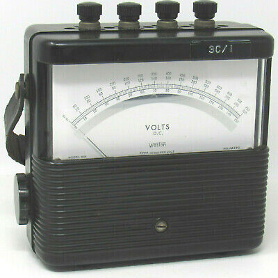 Weston Model 901 DC Volt Meter 3 Scales 150 300 750  Vintage Unit