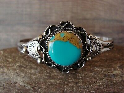 by Phoebe Tolta Native American Nickle Silver Turquoise Ring Size 7