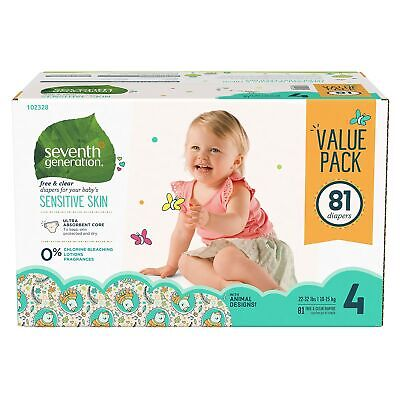 Seventh Generation Free & Clear Diapers, Size 4 44123