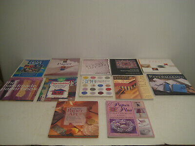 Lot of 12 Hand Made Paper Making Books