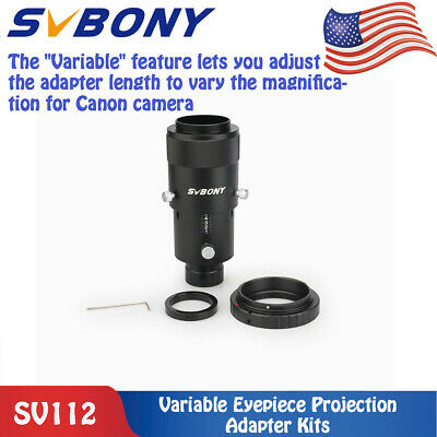 """SV112  Metal 1.25"""" Deluxe Variable Eyepiece Projection Kit+Canon T-Ring Adapter"""