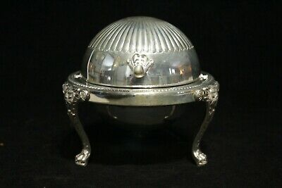 Antique Silver Plate F.B. ROGERS No.273 Covered Butter Dish