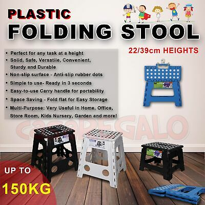 Folding Step Stool Portable Plastic Foldable Chair Store Flat Outdoor