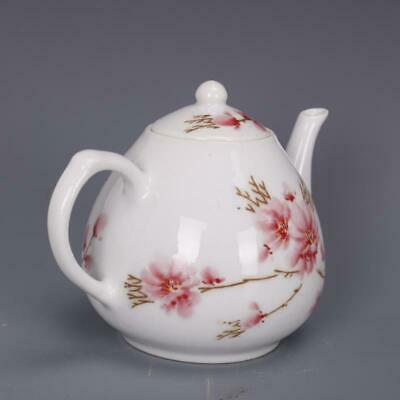 Chinese ancient antique hand make Peach Blossom Teapot Porcelain