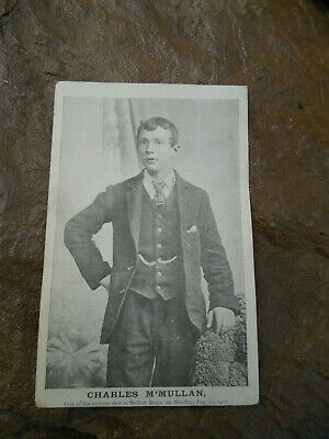 1907 Ireland martyr Charles M'Mullan photo postcard Belfast Riots, USA mail
