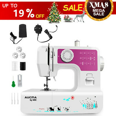 Electric Sewing Machine Kit Home Multi-function Desktop Portable LED 12 Stitches