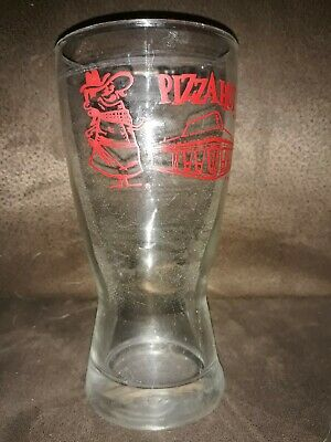 Pizza Hut Red Restaurant Outline Pizza Pete Logo Hourglass Beer Drink Glass