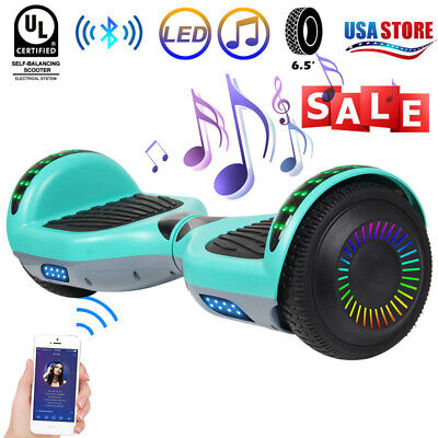 """6.5"""" Bluetooth Hoverboard LED Electric Self Balance Scooter no Bag Best Gift UL"""