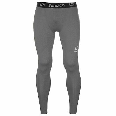 Sondico Core Baselayer Tights Mens Grey Marl Football Soccer Training Pants
