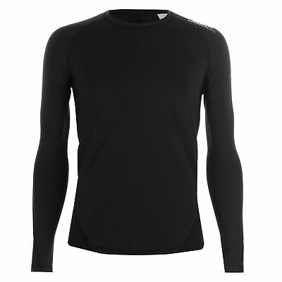 adidas Alphaskin Baselayer T-Shirt Mens Black Football Soccer Compression Top
