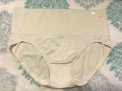 New JKY by Jockey Womens Large Slimming Hipster Panties Panty Briefs Ivory