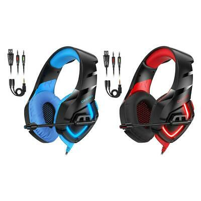 ONIKUMA K1-B Gaming Headphone 3.5mm Wired Stereo Headset w/ MIC for PC PS4 #gib