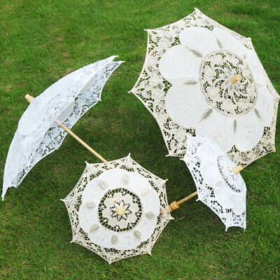 Lace Parasol Umbrella Vintage Embroidered Sun Umbrella Bridal Wedding Party Gift