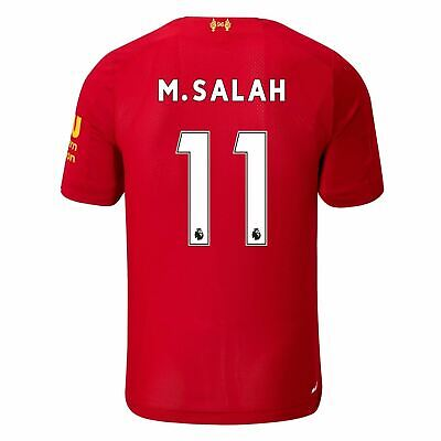 New Balance Liverpool Salah Home Shirt 2019 20 Mens Red Football Soccer Jersey