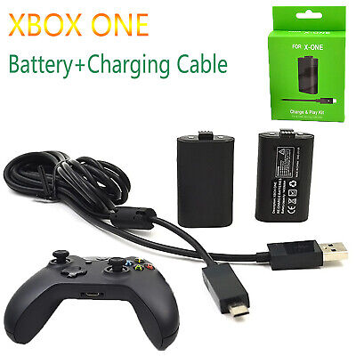 For Microsoft XBOX ONE Pack Controller Battery Charging Cable Play & Charger Set
