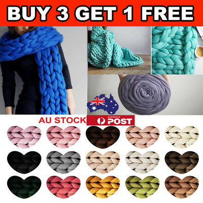 Super Thick Bulky Wool Yarn Soft Chunky Hand Knitting Hat Scarf Blanket 8 Colors