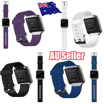Replacement Silicone Gel Band Strap Bracelet Wristband for FITBIT BLAZE  QV