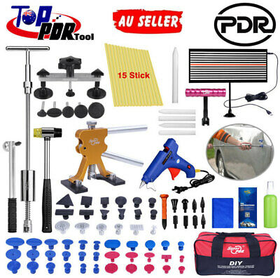 PDR Car Paintless Dent Repair Tool Hail Removal Puller Lifter LED Line Board Kit
