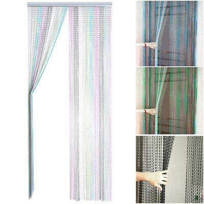 Metal Aluminium Chain String Door Curtain Fly Insect Pest Control Window Screen