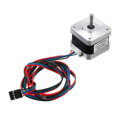 2X(Nema 17 Stepper Motor Bipolar 4 Leads 34Mm 12V 1.5 A 26Ncm(36.8Oz.In) 3D4C3)