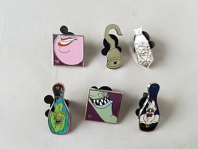 Disney Trading Pins Official Villains Theme Collectible Lot of 6