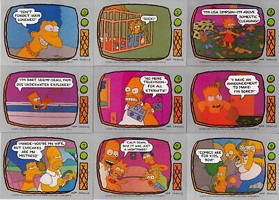 The Simpsons - Complete 88 Trading Card Set - 1990 Topps - NM
