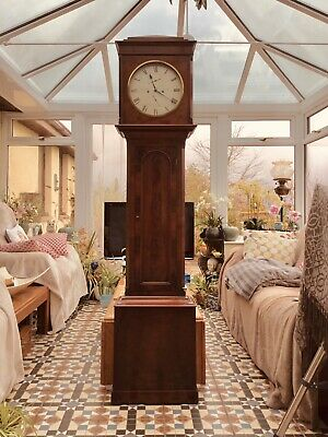 19th Century William IV Mahogany Scottish Grandfather Longcase Clock