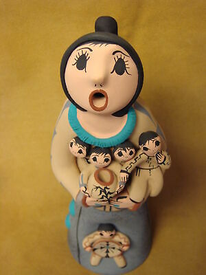 Jemez Pueblo Indian Handmade Clay Storyteller by J.L. Fragua
