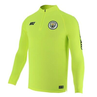 Nike Manchester City FC Men's Squad 1/4 Zip Drill Top - Lime Green - New