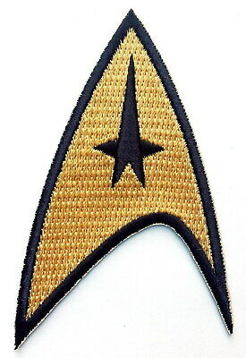 Iron on Original Gold Star Trek Command insignia Capt Kirk Uniform Costume Patch