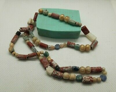 Rare Set of 60 Ancient Antique Viking Beads Necklace Suspension 9-11 cen.AD#264